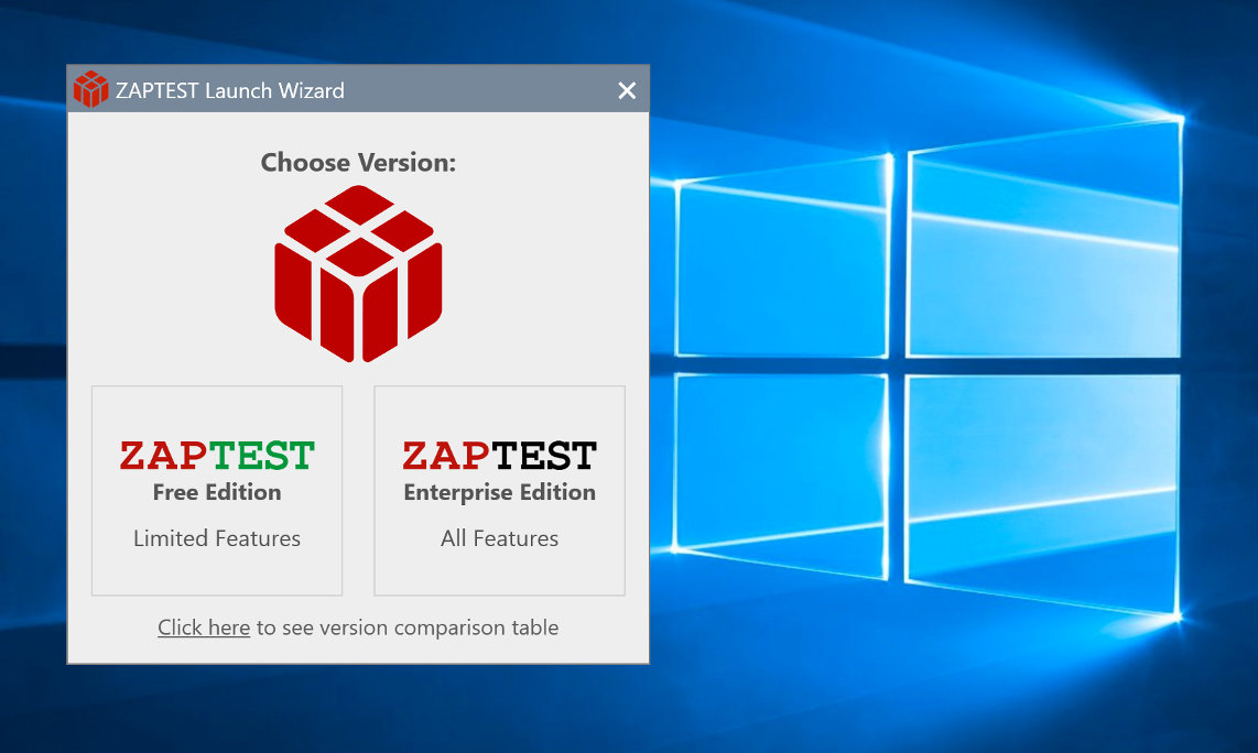 ZAPTEST Windows Testing